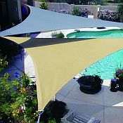 Shade Sails are a great alternative to a pergola or other patio structures.
