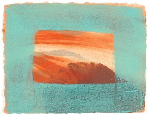 Howard Hodgkin {blue + orange is always my favourite color combo}