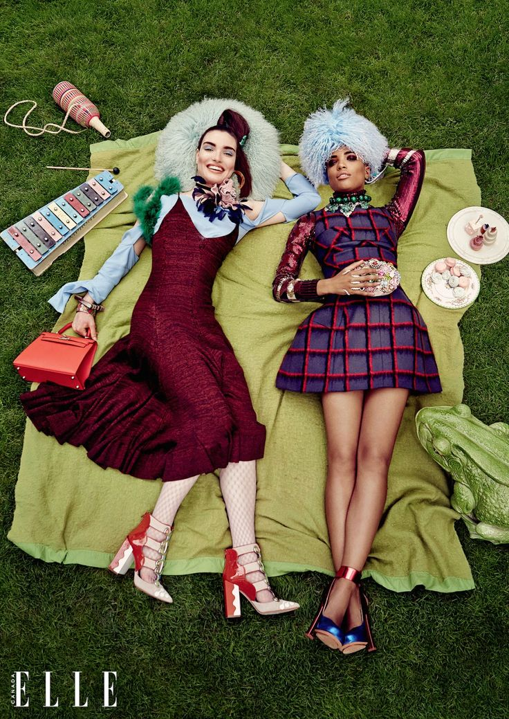 eccentrics: liisa winkler. stella, hannah, juliann, sam and judith by owen bruce for elle canada september 2015