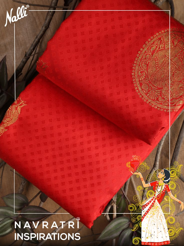 #NAVRATRI STARTS LADIES! Starting with our collection of Red Crafted sarees, you will view all colours from Brick red, scarlet red, royal imperial red to crimson and redwood hues. Join us with this celebration and choose your favorite colour of red in your favorite silk