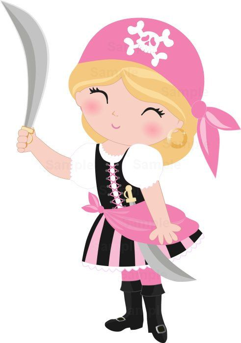 Pirate Girls Clip Art Set Art Pirates And Ships