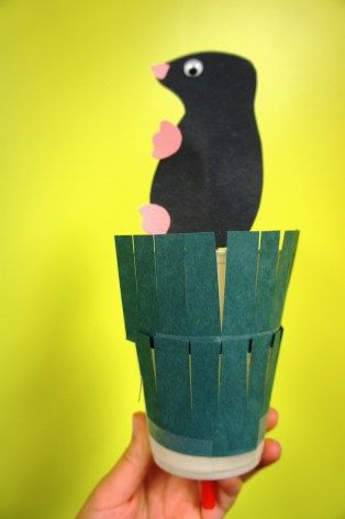 Mole in a Hole Craft - with template