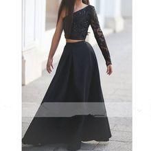 Schwarze Lange Hülse der Schulter Abendkleider blumenmädchen Festzug Kleider Für Mädchen Glitz langen festzug kleider für Kinder //Price: $US $82.48 & FREE Shipping //     #cocktailkleider