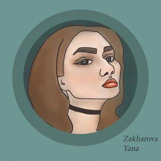 graphic design portrait of girl