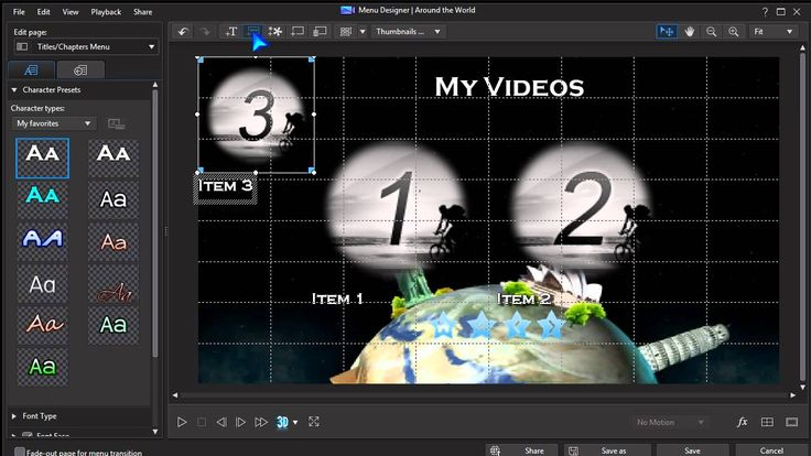 17 best powerdirector 13 images on pinterest 3d text for Powerdirector menu templates