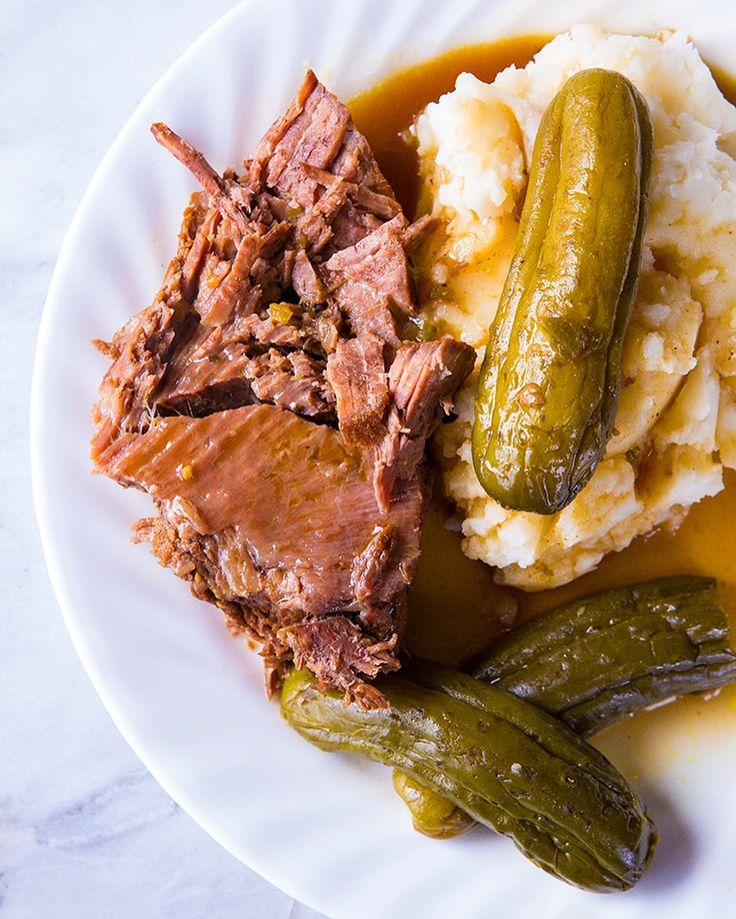 My new Dill Pickle Pot Roast is the top recipe on my website this weekend! People love their pickles! Tap @thekitchenmagpie for the clickable recipe link! #pickles #pickled #roastbeef #potroast