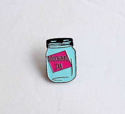 Douchebag Jar New Girl Schmidt Soft Enamel Lapel Pin 1.25 inch, flair pin game