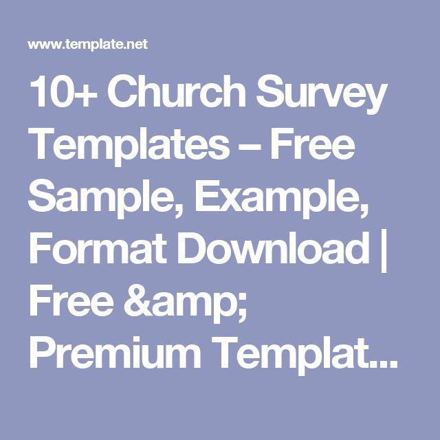 10+ Church Survey Templates U2013 Free Sample, Example, Format Download | Free U0026