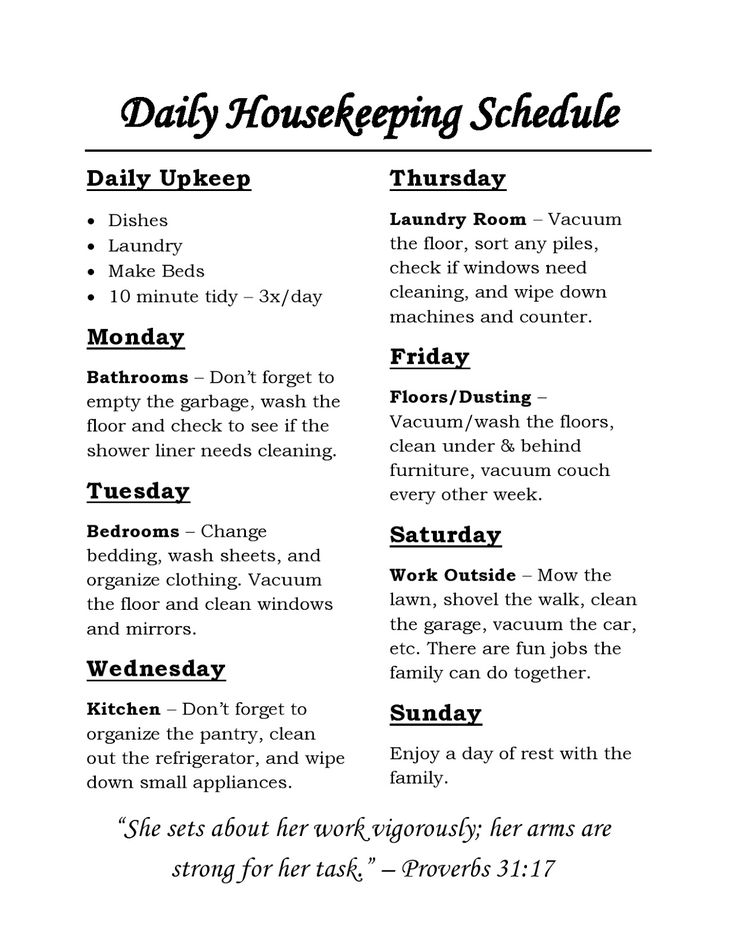 11 best Housecleaning charts images on Pinterest