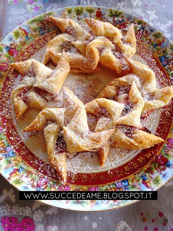 Pinwheel's puff pastry with cherry jam, the recipe on my blog www.succedeame.blogspot.it