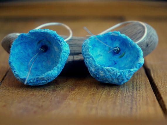 Check out this item in my Etsy shop https://www.etsy.com/listing/527648345/paper-earrings-paper-mache-earrings