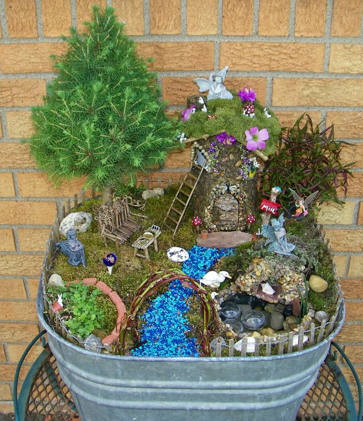 17 best images about outside decor on pinterest gardens for Fairy garden waterfall