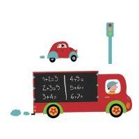 Krijtbordsticker Vrachtwagen XL   Kids Decoshop