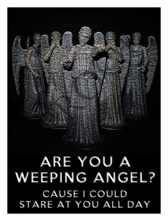 Doctor Who Weeping Angel Valentine's Day Custom by RedDoorWinery, $2.00