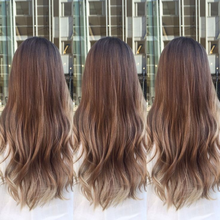 "Soft ombre ""sombre"" color with balayage and color.me. Soft beige tones"