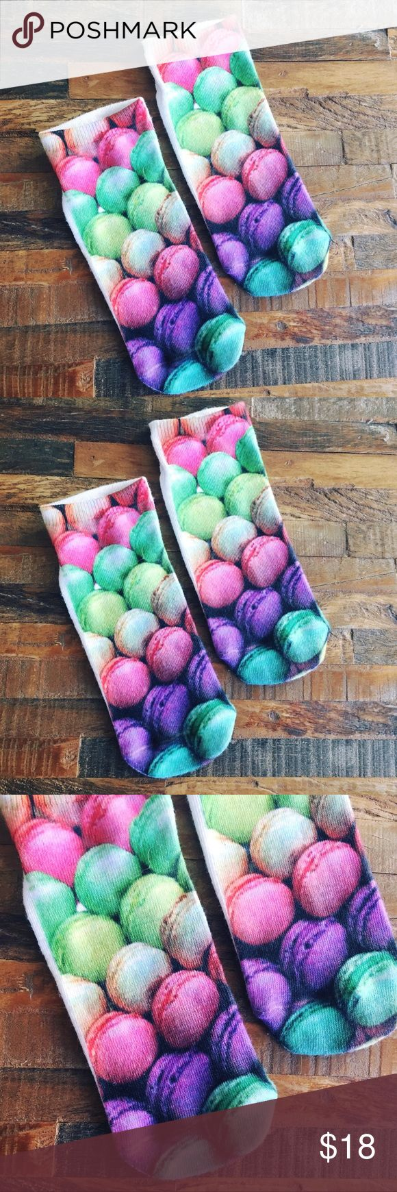 🍬Beautiful Low-Rise Socks with Macaroon Print Up for sale is a beautiful pair of brand new Anthropologie low-rise socks with macaroons print. Please feel free to contact me for any questions! Anthropologie Accessories Hosiery & Socks