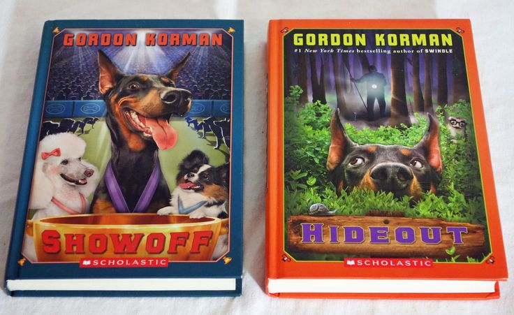 Lot of 2 Hardcover Books By Gordon Korman - Swindle Series (Showoff & Hideout)