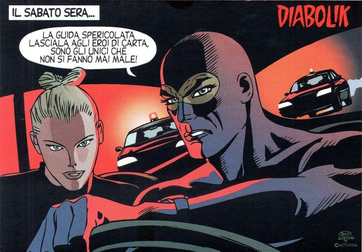 """PROMOCARD n. 923 1998 - DIABOLIK 059: """"La luce del male"""""""