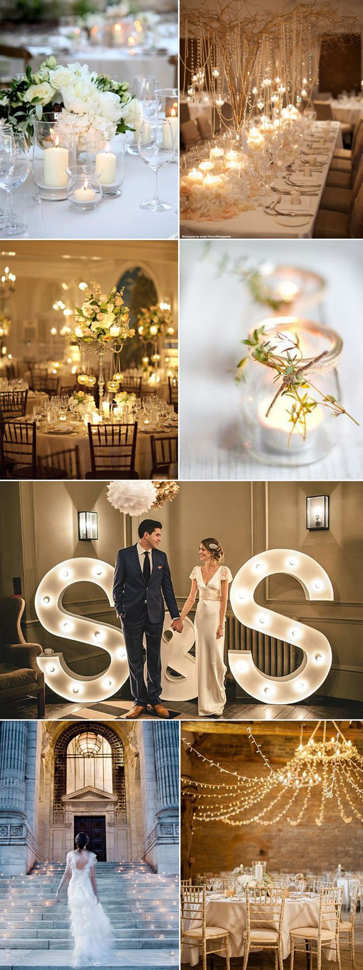 Beautiful ideas to light up your wedding