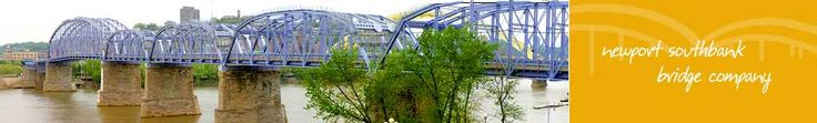 """""""The Purple People Bridge"""" which connects Cincinnati and Newport, Kentucky is one of the nation's only pedestrian bridges . Walkers of the half-mile bridge are treated to a panoramic view of the Ohio River."""