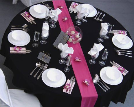 pink and black wedding - Google Search