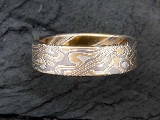white collection design gane australia half gold collections rings mokume round with ring stripes mdt