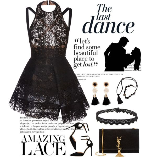 The Last Dance by conch-lady on Polyvore featuring moda, Elie Saab, Sergio Rossi, Yves Saint Laurent, Jade Jagger, Anja and Salsa