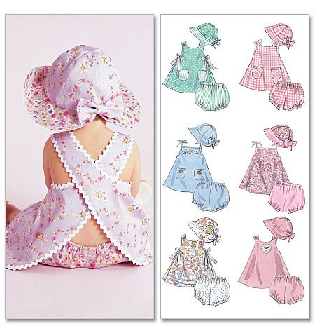 Baby Girl Dress Patterns | BABY GIRL HAT DRESS REVERSABLE TOP HAT panty SEWING PATTERN | eBay