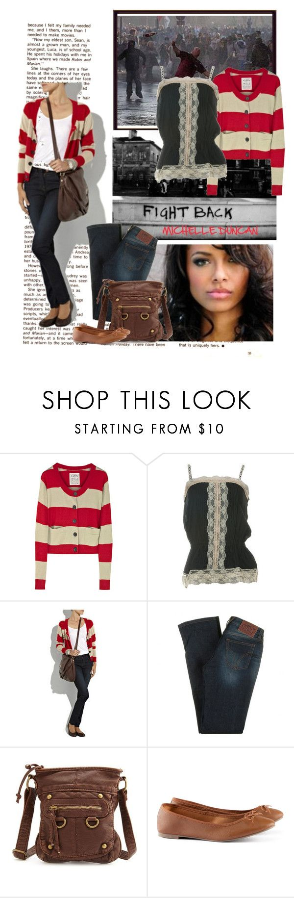 """""""Katerina Graham, riots"""" by ivanoe ❤ liked on Polyvore featuring GAS Jeans, Aubin & Wills, Metropark, D&G, Charlotte Russe and H&M"""