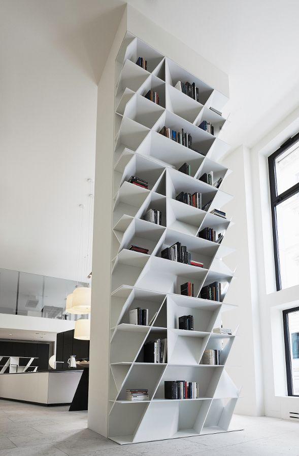 Daniel Libeskind signs Web #bookcase for Varenna @Poliform|Varenna MYLIFE