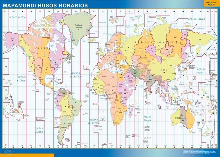 mapa husos horarios