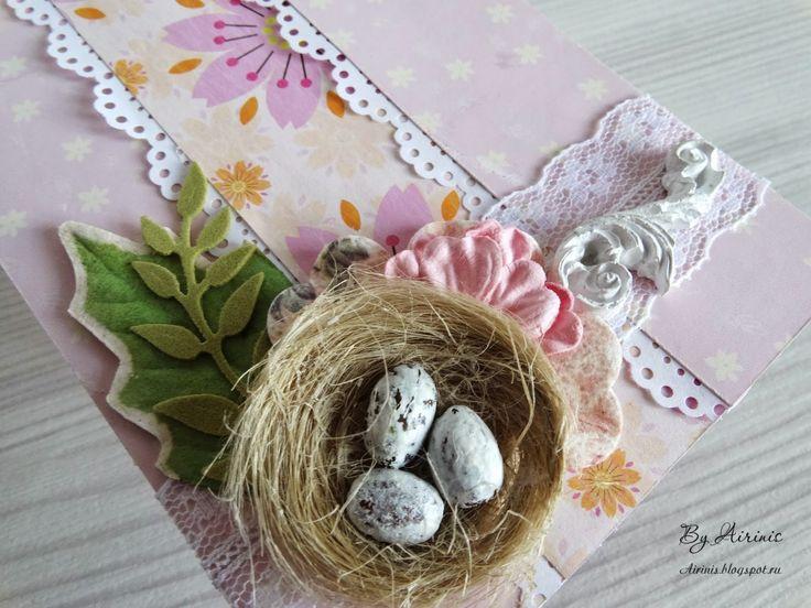 by Airinis: ScrapHak. Гнезда и птичьи яйца МК