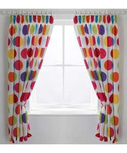 ColourMatch Kids' Spot Curtains - 168 x 137cm.