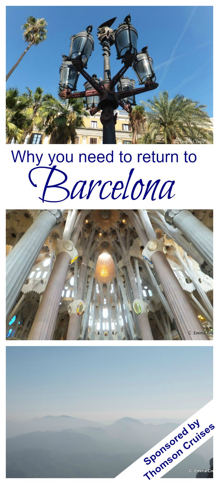 5 years ago we visited Barcelona.  We spent a long weekend exploring the undulating architecture of Gaudi, nibbling pintxos and soaking in the sunshine. Hours were spent admiring the incredible Sagrada Familia arches, we meandered along the city beaches and rode the furnicular up into the misty peaks of Montserrat.