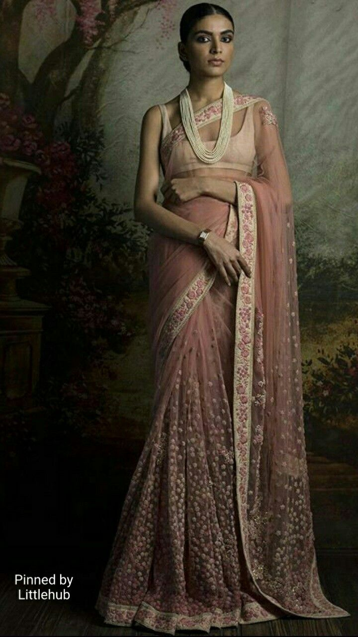 Pinterest @Littlehub || Six yard- The Saree ❤•。*゚|| Sabyasachi saree