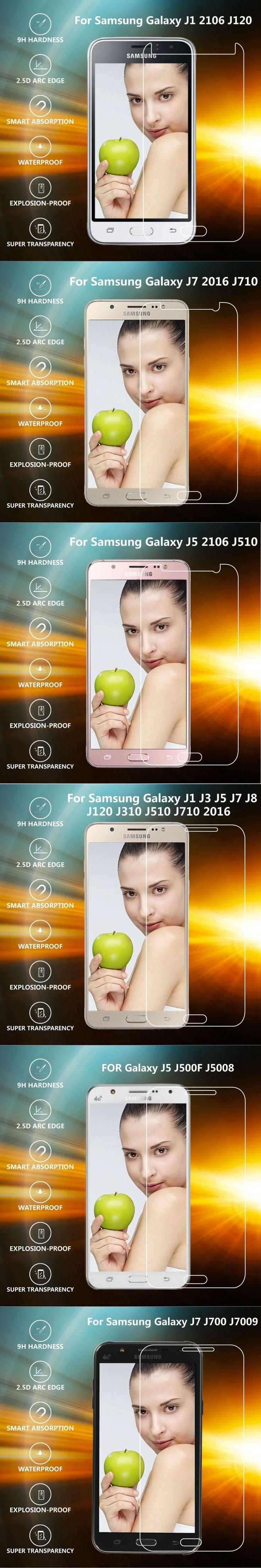 GULYNN ultra thin HD clear 2.5D Tempered Glass For Samsung J1 J3 J5 J7 J120 J310 J510 S7 S6 2016 J2 PRIME Screen Protector Film