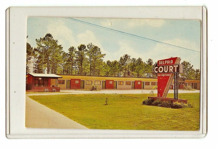 Vintage Mississippi Postcard Delphia Court Motel Philadelphia MS Miss RARE Photo | eBay