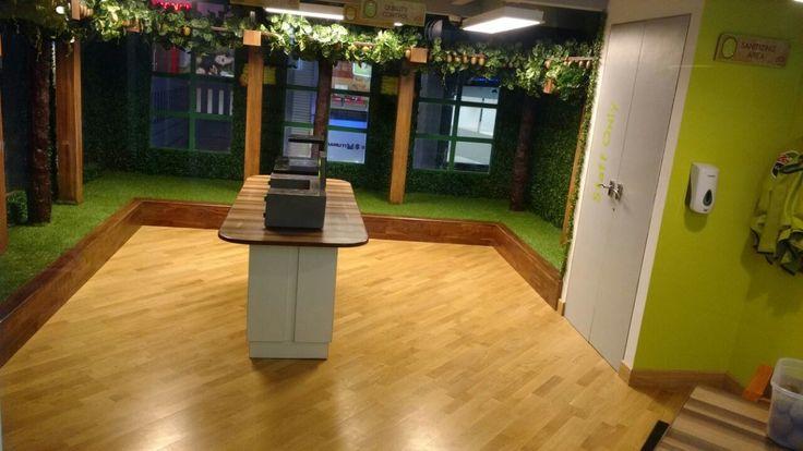 play area for Kidzania, Noida installed with EWF Oak 3 Strip & EWF Walnut 3 Strip 2/3