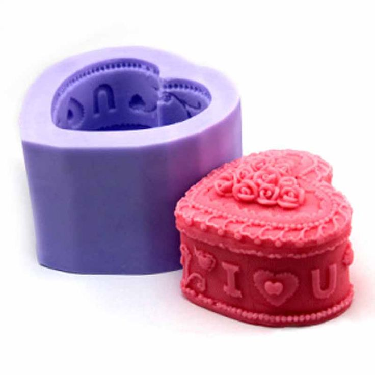 1 pc  Silicone Candle Mold Handmade Soap Mold Mold Size 7.5*7.4*4.9cm/Finish Size 5.6*5.8*4.6cm