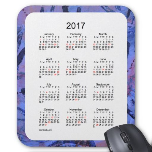 2017 Holiday Calendar by Janz Mouse Pad