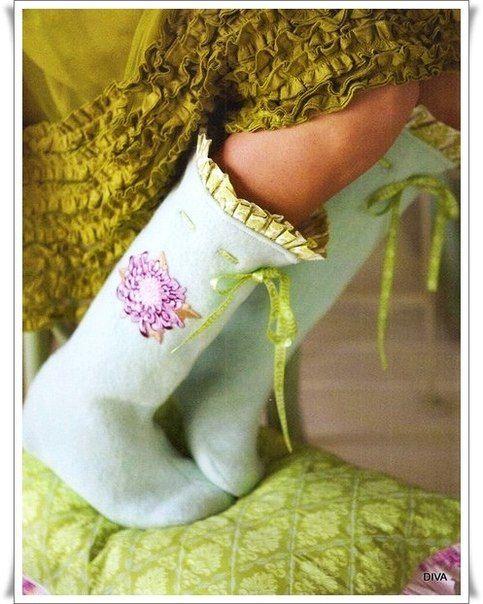 Домашние сапожки - Разное для малышей - Вязание для детей -МАСТЕР-КЛАССЫ ПО РУКОДЕЛИЮ- Страна рукоделия