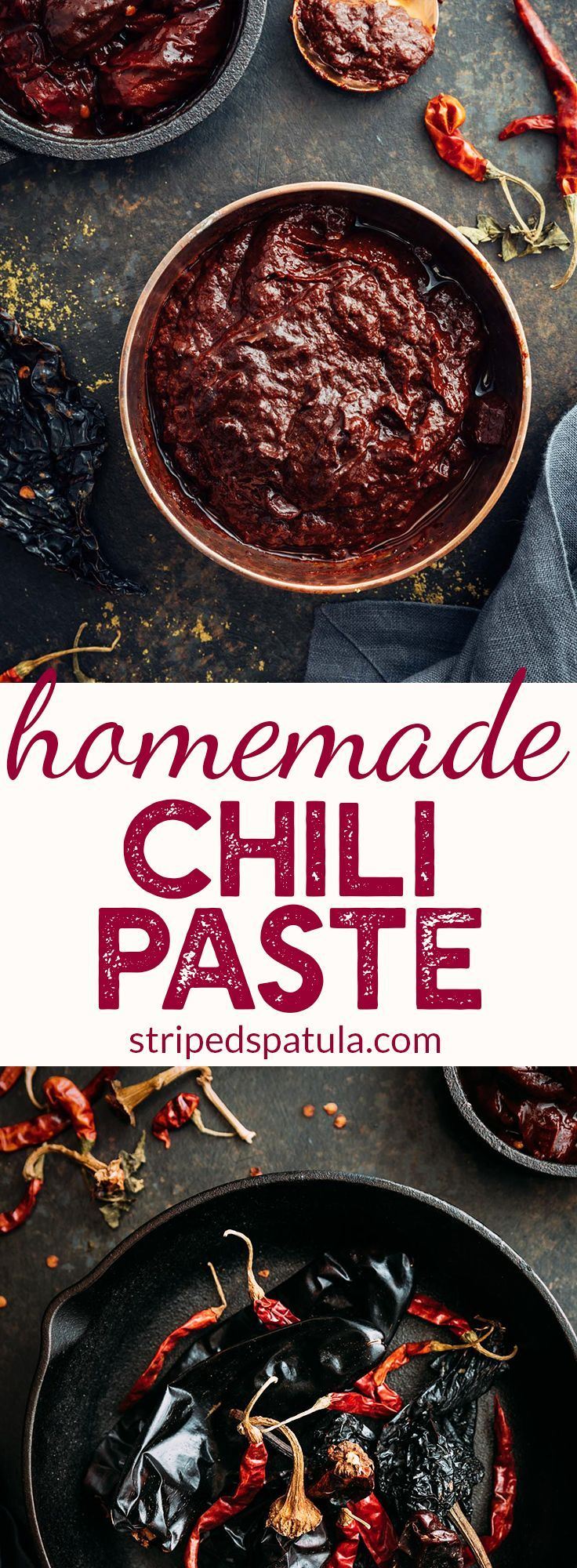 Homemade Chili Paste   Chili Paste Recipe Simple   How to make Chili Paste at Home   Dried Chili Recipes   Dried Chili Peppers   #stripedspatula #spicy #peppers