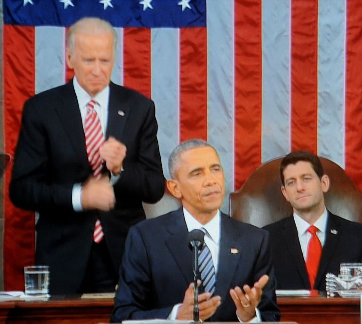 """President Obama, in his final State of the Union, addressed the ISIL/terror threat saying, """"But as we focus on destroying ISIL, over-the-top claims that this is World War III just play into their hands.  Masses of fighters on the back of pickup trucks, twisted souls plotting in apartments or garages -- they pose an enormous danger to civilians; they have to be stopped.  But they do not threaten our national existence.  That is the story ISIL wants to tell.  That's the kind of propaganda…"""