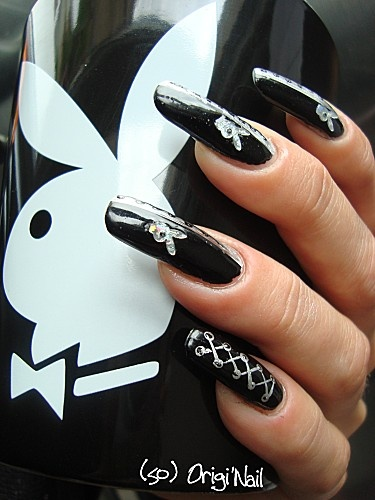 8 best playboy bunny nail designs images on pinterest make up playboy nail art prinsesfo Image collections