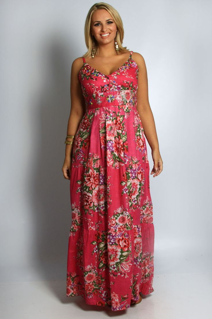 Floral dress floral print dresses pinterest plus for Print maxi dress for wedding