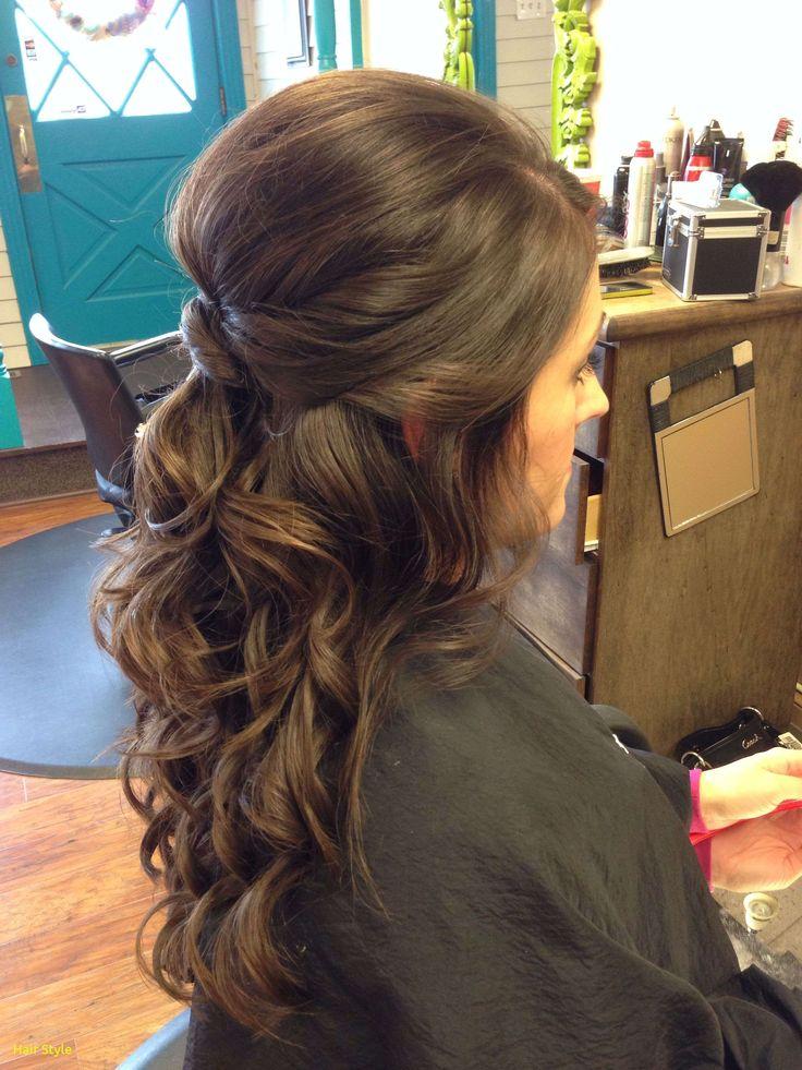 Elegante Hochzeit Frisuren Curly Hair halb hoch