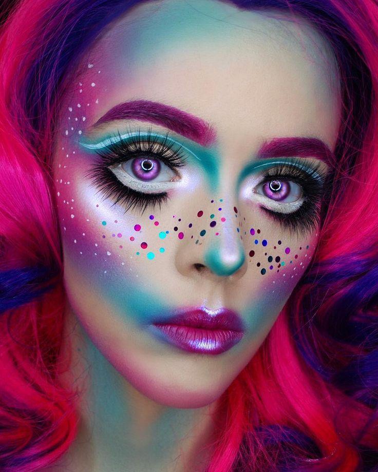 Картинки цветного макияжа