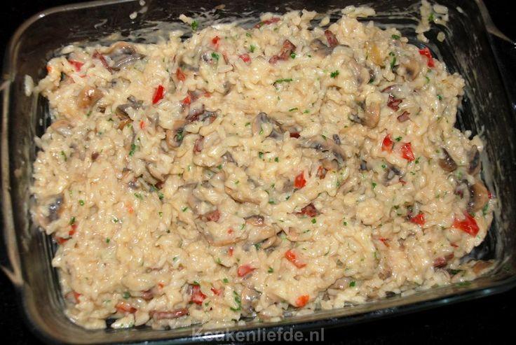 Supermakkelijke ovenrisotto met champignons - Keukenliefde