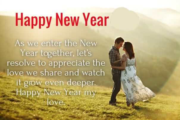 50 Cute Happy New Year 2020 Love Quotes for Her (Girlfriend) with Pics -  iPhone2Lovely   Happy new year quotes, New year love quotes, Quotes about  new year
