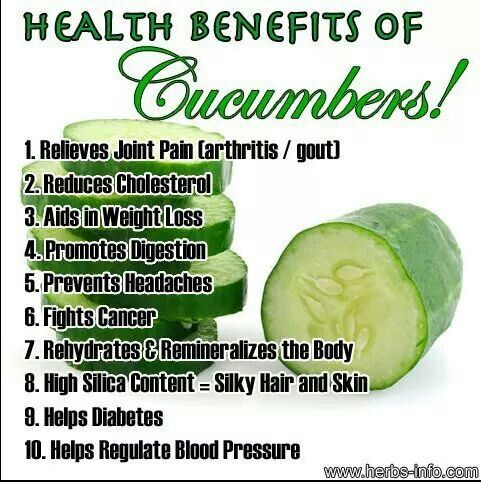 Benefits of Cucumbers
